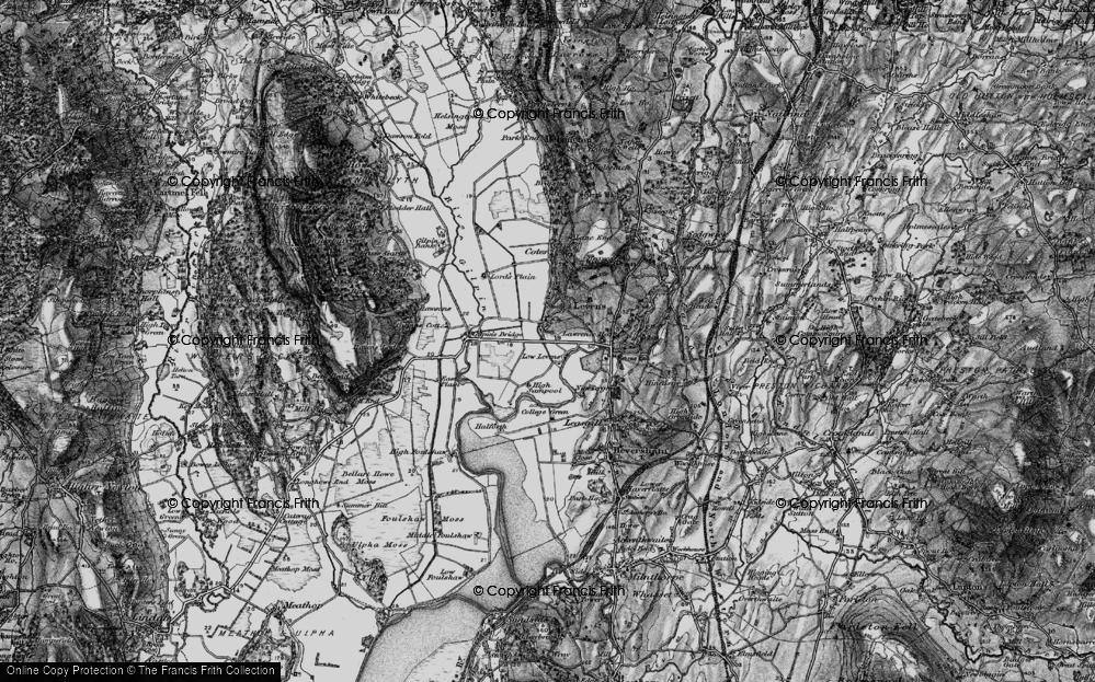 Old Map of Historic Map covering Levens Hall in 1898