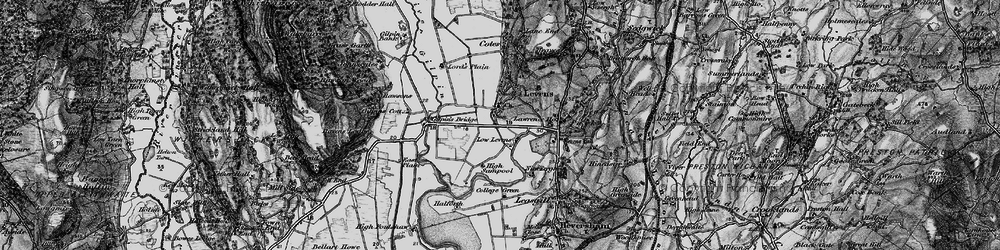 Old map of Levens Hall in 1898