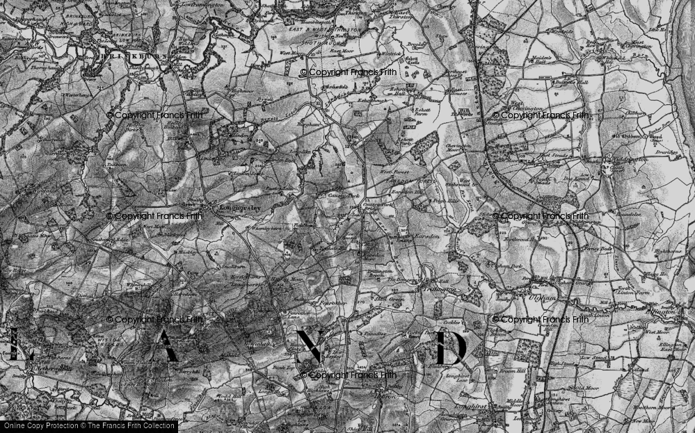 Old Map of Historic Map covering Tindale Hill in 1897