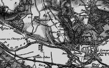Old map of Caversham Heights in 1895