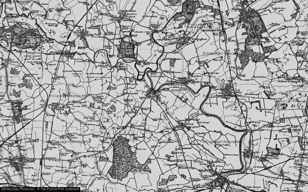 Old Map of Cawood, 1898 in 1898