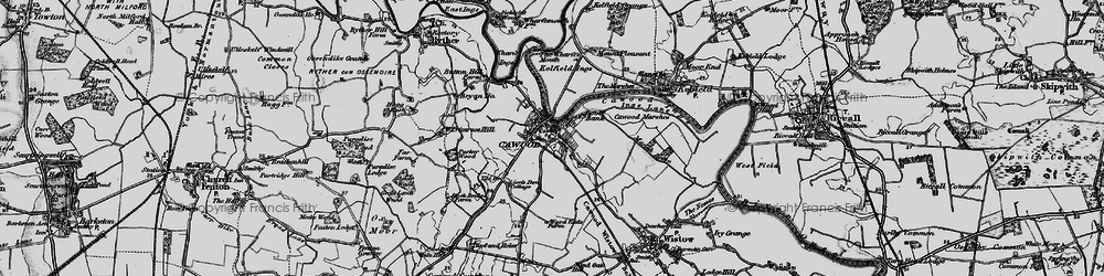 Old map of Wharfe's Mouth in 1898