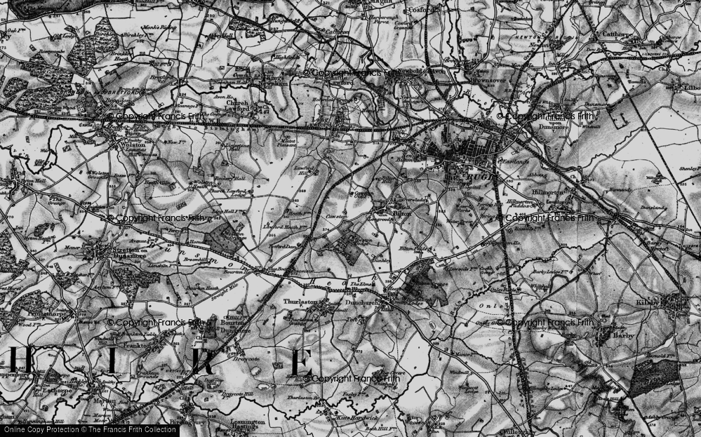 Old Map of Cawston, 1898 in 1898