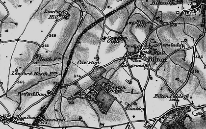 Old map of Cawston in 1898