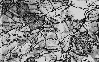 Old map of Cawthorne in 1896