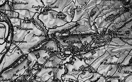 Old map of Ledwyche Brook in 1899