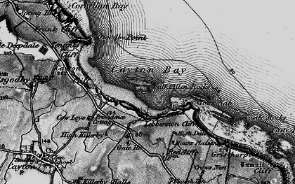 Old map of Cayton Bay in 1898