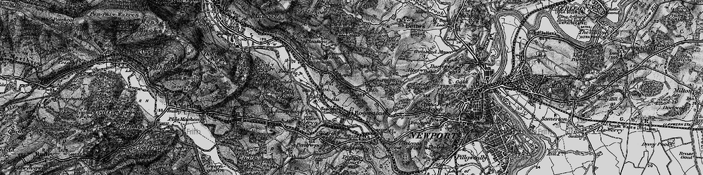 Old map of Cefn in 1897