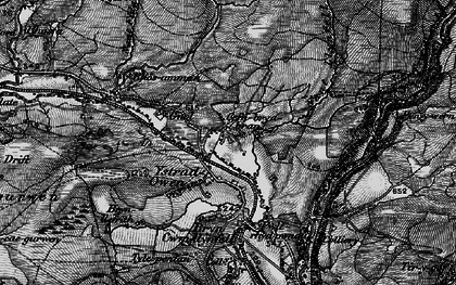 Old map of Aman Fawr in 1898