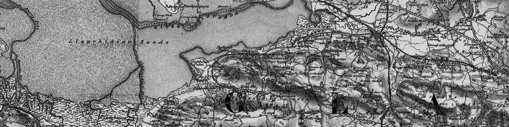 Old map of Cefn-bychan in 1897