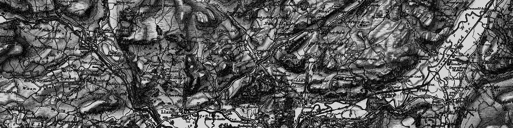 Old map of Afon Meloch in 1898