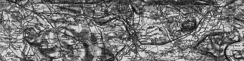 Old map of Cefn Glas in 1897