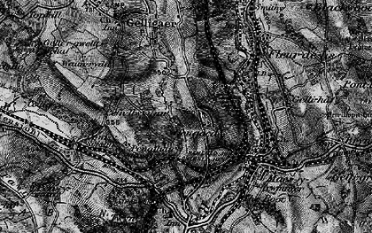 Old map of Cefn Hengoed in 1897