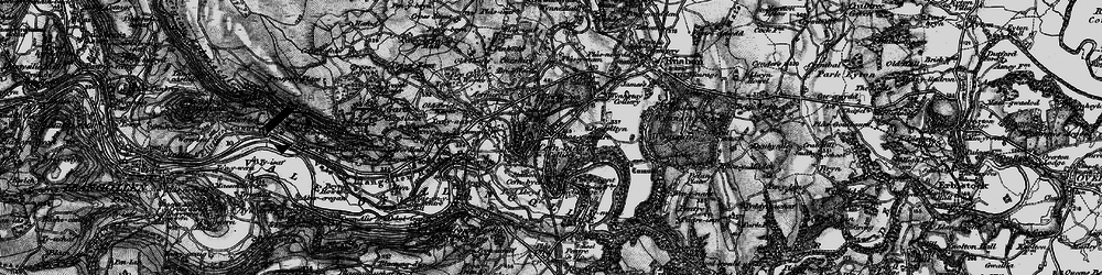 Old map of Cefn-mawr in 1897