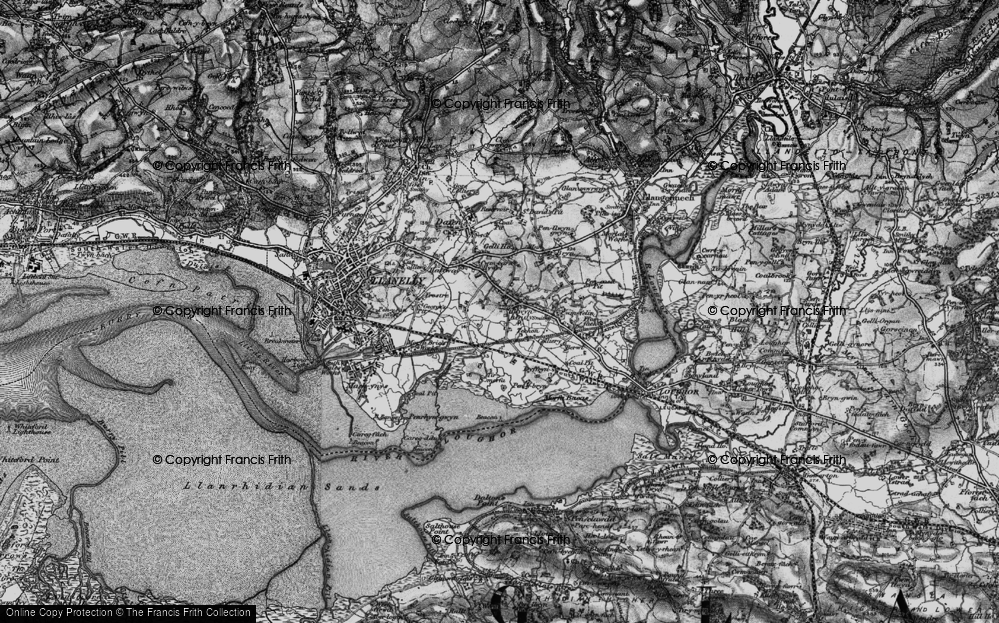 Old Map of Historic Map covering Tir Morfa in 1897