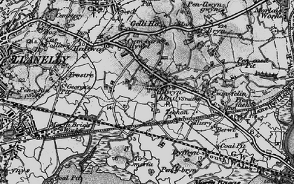 Old map of Tir Morfa in 1897