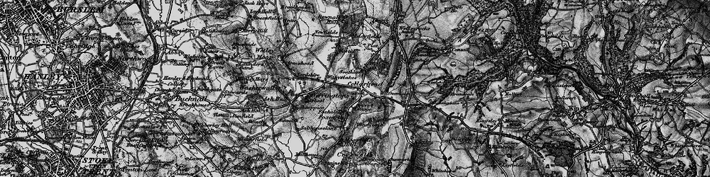 Old map of Windicott in 1897