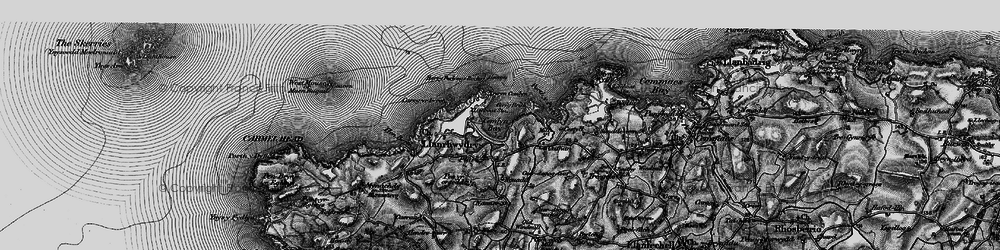 Old map of Cemlyn Bay in 1899