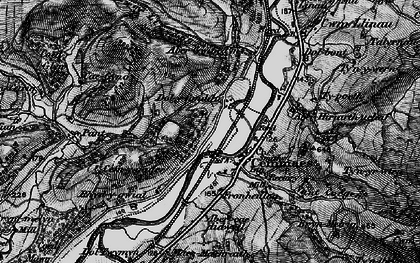 Old map of Aberhiriaeth in 1899