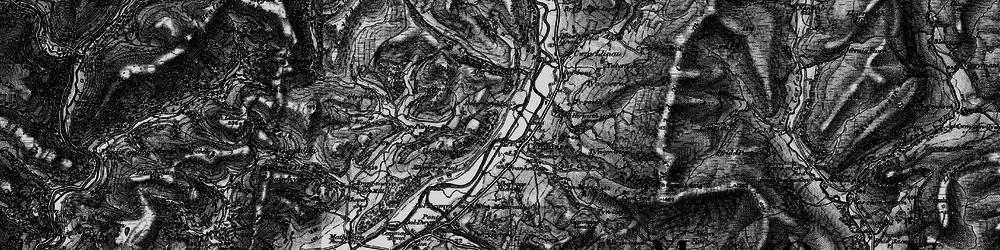 Old map of Aberhiriaeth in 1899