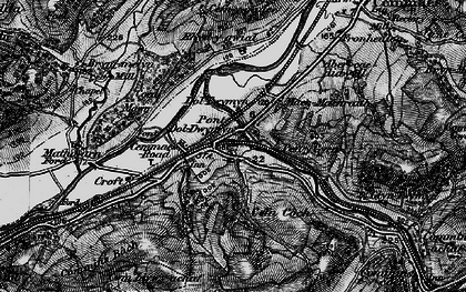 Old map of Cemmaes Road in 1899