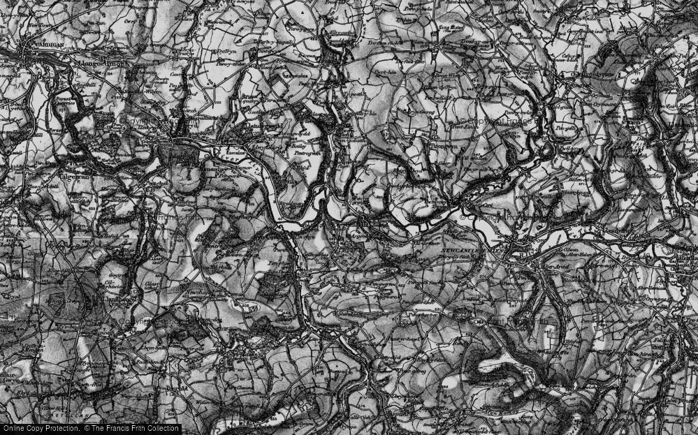 Old Map of Cenarth, 1898 in 1898
