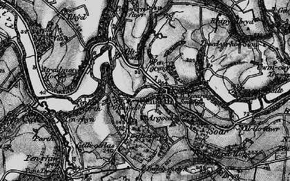 Old map of Cenarth in 1898