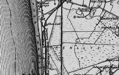 Old map of Afon Leri in 1899