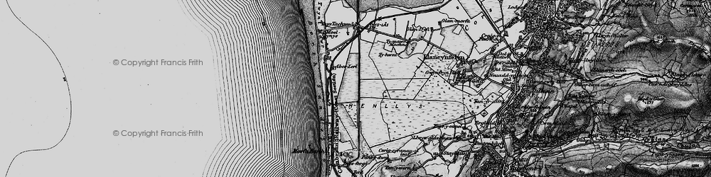 Old map of Afon Leri in 1899