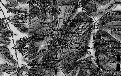 Old map of Yelcombe Bottom in 1898
