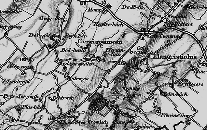Old map of Afon Gwna in 1899