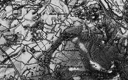 Old map of Y Garth in 1899