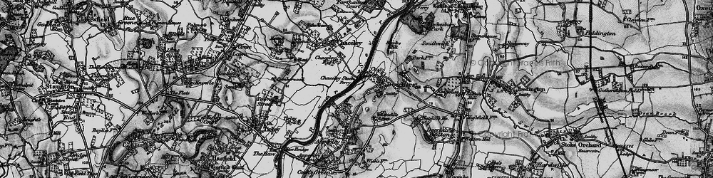 Old map of Abbot's Court in 1896