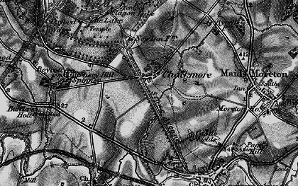 Old map of Chackmore in 1896