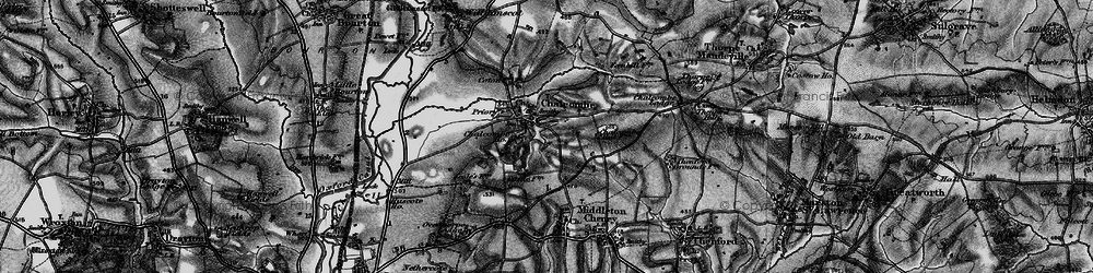 Old map of Chacombe in 1896