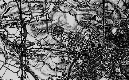 Old map of Chadderton in 1896
