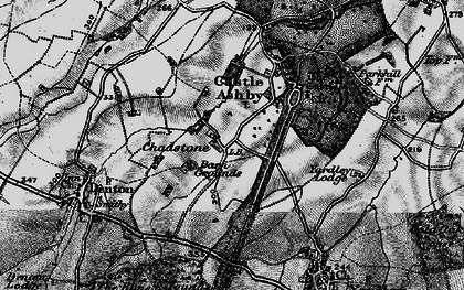 Old map of Avenue Lodges in 1898