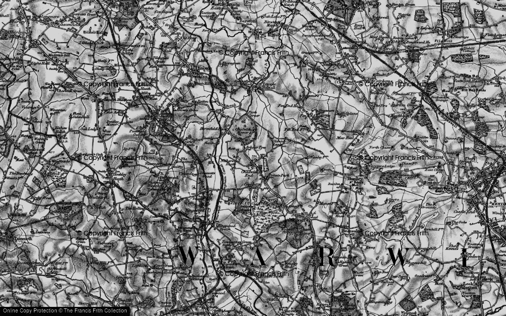 Old Map of Historic Map covering Baddesley Clinton in 1898