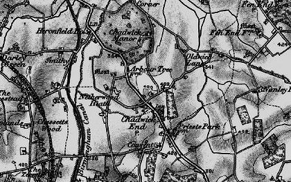 Old map of Baddesley Clinton in 1898