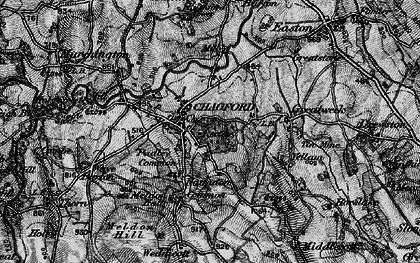 Old map of Chagford in 1898