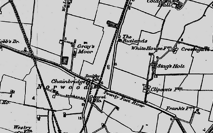 Old map of Chainbridge in 1898