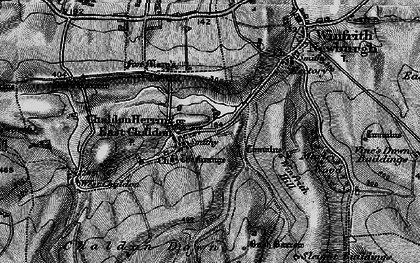 Old map of Winfrith Hill in 1897