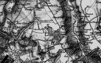 Old map of Chalfont Grove in 1896