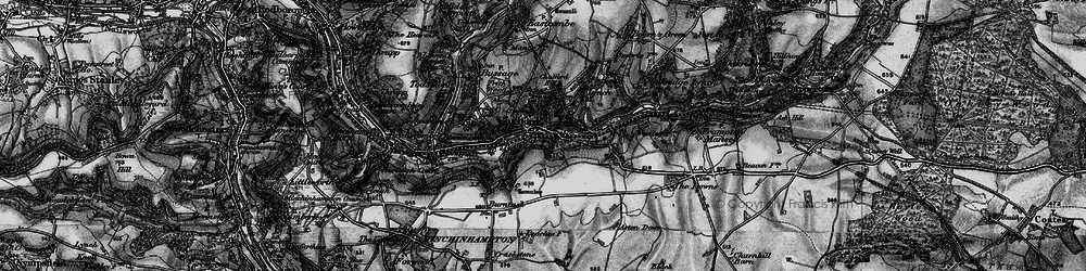 Old map of Chalford in 1896
