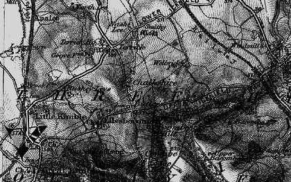 Old map of Chalkshire in 1895