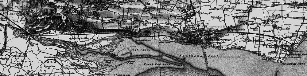 Old map of Leigh Sand in 1896