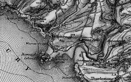 Old map of Challaborough in 1897