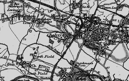 Old map of Chalvey in 1896