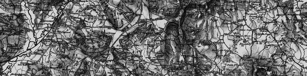 Old map of Wootton Hill in 1898