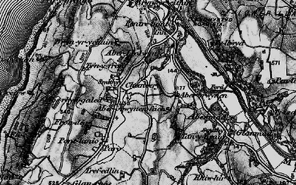 Old map of Abermad in 1899